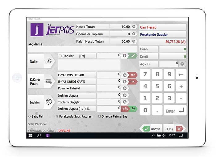 Barkodlu Hızlı Satış Programı | Kasiyer İşlemleri | Jetpos