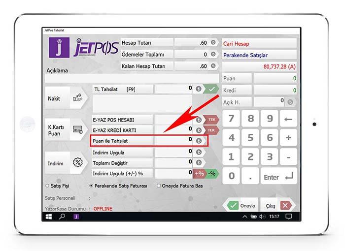 Barkodlu Hızlı Satış Programı Puan Kart | Jetpos