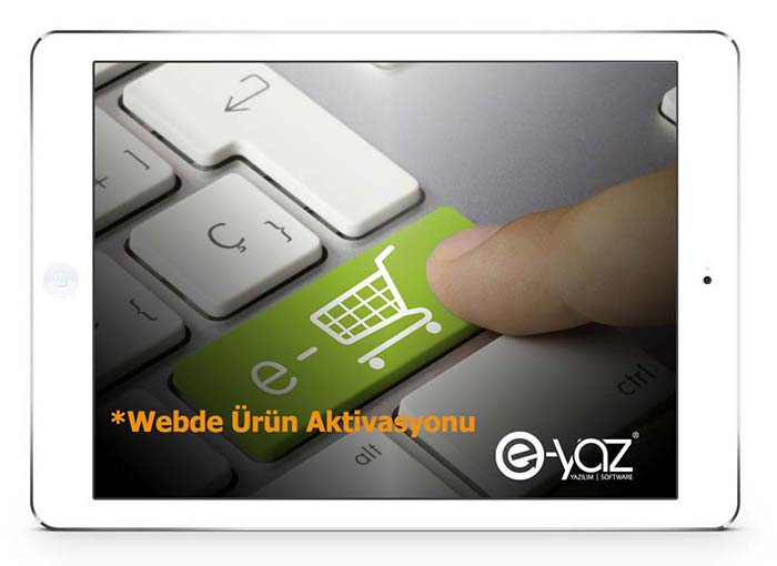 E-Yaz E-Ticaret Webde Ürün Aktive Etme