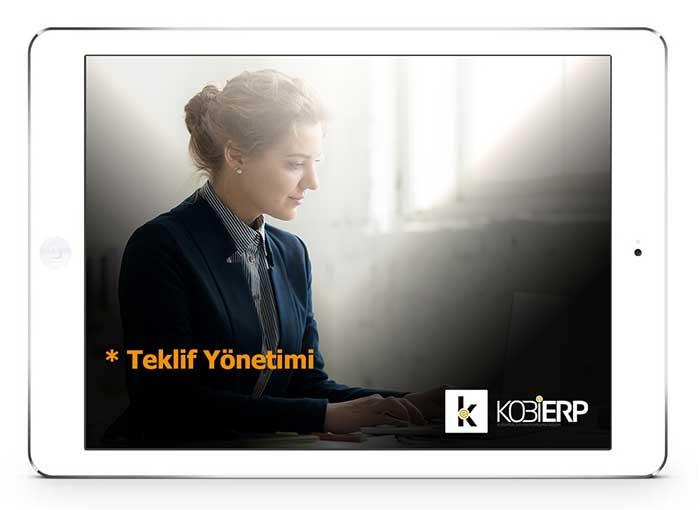 ERP Yazılımı Ürünler Kobierp Teklif Yönetimi