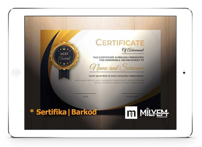 E-yaz Kuyumculuk Yazılımı Sertifika | Barkod | Ürün Kataloğu