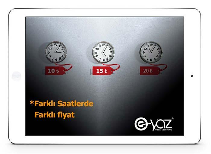 E-Yaz Market Yazılımı Günün Farklı Saatlerinde Farklı Fiyat