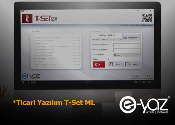 Ticari Yazılım T-Set ML Genel Özellikleri