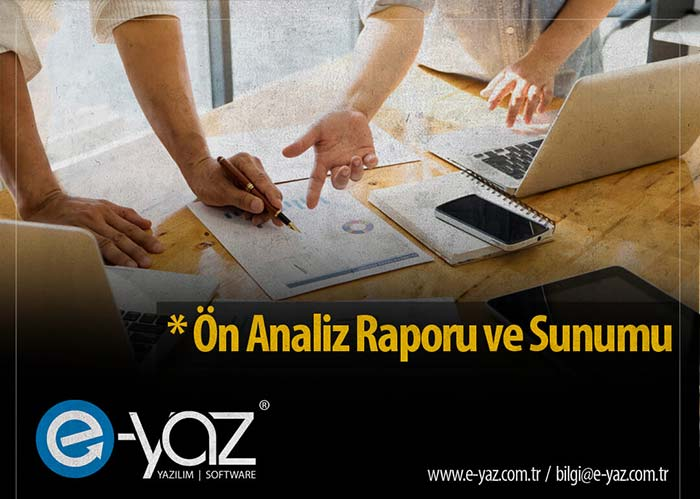 Yazılım Hizmeti Ön Analiz Raporu ve Sunumu